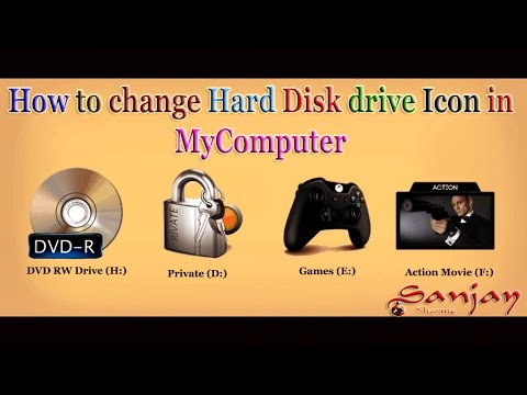How to change Disk Drive icon in my computer in [ Hindi-हिन्दी  / Urdu-اردو ]