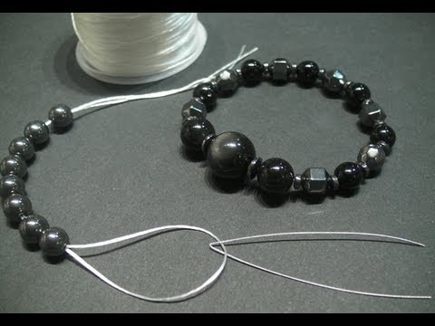 DIY tips : How to make a stainless steel wire needle for making stretch bracelets