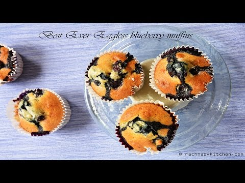 Best ever eggless blueberry muffins recipe