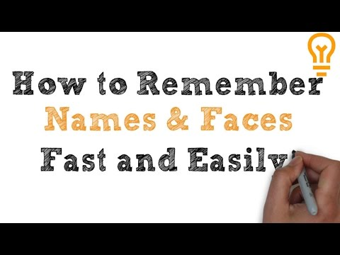 How to Remember Names and Faces (Video 1)