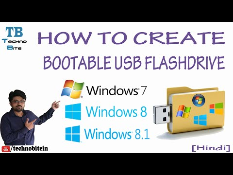 How To Make Bootable Usb Pen Drive For Windows 7/8/8.1 [Hindi]