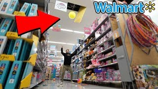 TRYING TO GET KICKED OUT OF WALMART (WE BROKE THE CEILING)