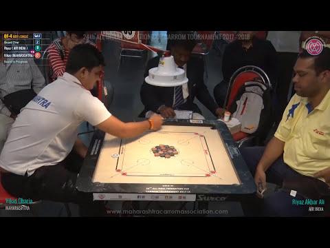 QF-4-Set-1: Riyaz Akbar Ali ( AIR INDIA ) vs Vikas Dharia ( MAHARASHTRA )