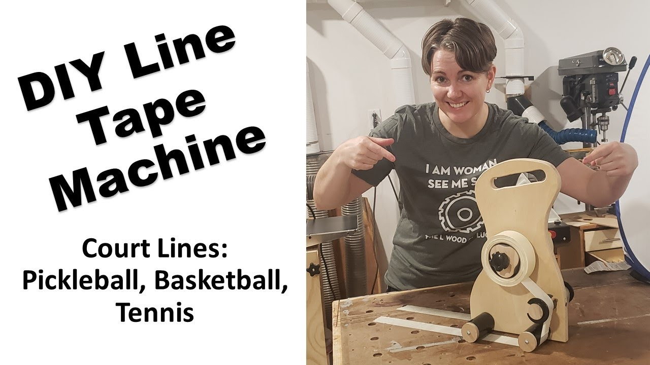 Line Tape Machine DIY, Perfect for Basketball, Pickleball, Tennis Court Lines