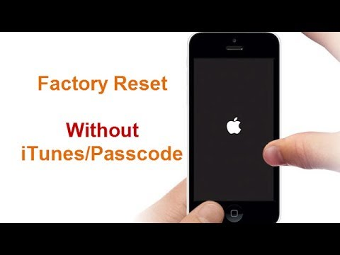 Factory Reset iPhone 7 without Passcode/iTunes