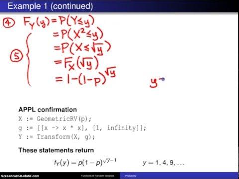 Cumulative distribution technique -- Example 1