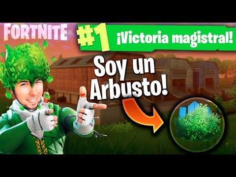 WILLY EL ARBUSTO! Fortnite: Battle Royale
