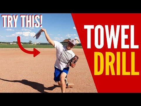 Baseball Pitching Towel Drill! (THROW GAS!!)