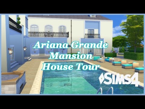 The Sims 4 - Ariana Grande House build CC (House Tour)