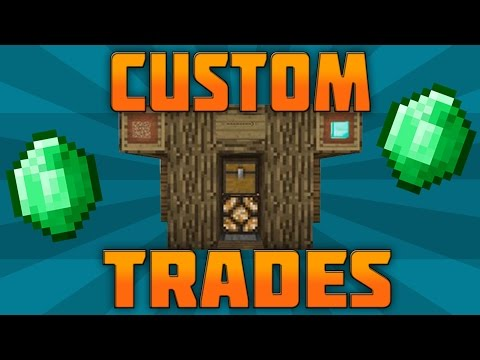 HOW TO GET CUSTOM TRADES ON MINECRAFT (NO MODS) - PS3 PS4 XBOX 360 XBONE PE PC