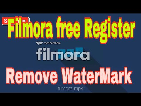 Filmora Wandershare Register & watermake Remove free 2017