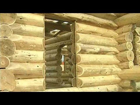 How to make window and door to a log wall - Building Log Walls