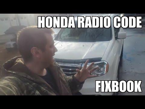 Radio Code 09-15 Honda Pilot Serial Number