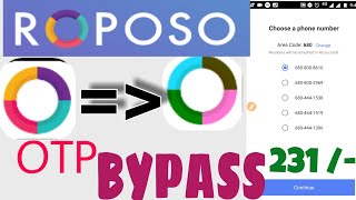 Loot] ROPOSO Apk Loot trick 25rs per number instantly redeem