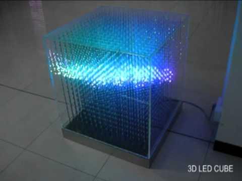3D LED RGB Arduino Cube 16x16x16