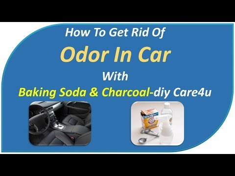 how to get rid of odor in car-withBaking Soda & Charcoal-DIY Care4U