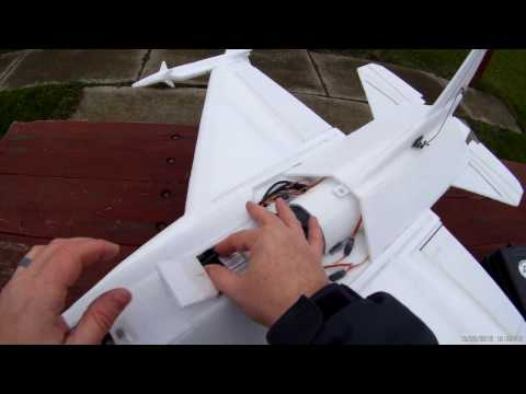 Scratch built F-16 RC plane 80mm EDF, 6- cell battery; Video 1