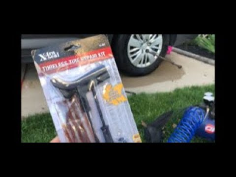 How to fix your tire with a tubeless tire repair kit quick and easy