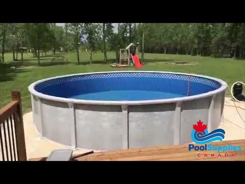Pool Supplies Canada Above Ground Pool and Deck Build