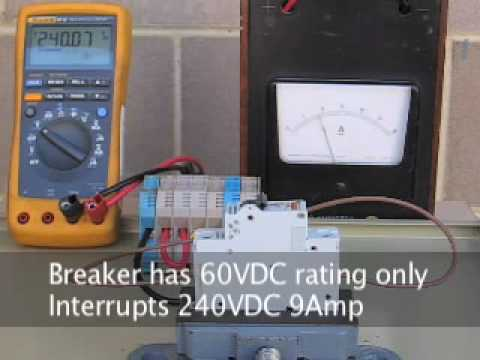 D.C. arcing in circuit breakers