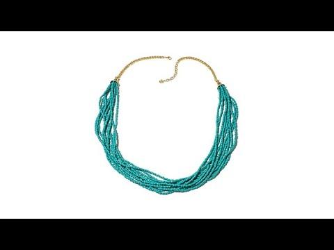 Margaritavile Multistrand Glass Beaded Necklace