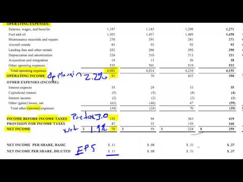 Airline Income Statements - Part 2