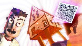 WHAT IS THE NEIGHBOR HIDING IN THIS HOUSE?!? NEW QR CODE!!! - (Hello Neighbor QR CODE / Beta 3)