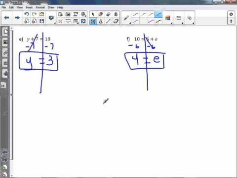 6th Grade 7-2: Solve and Write Addition Equations