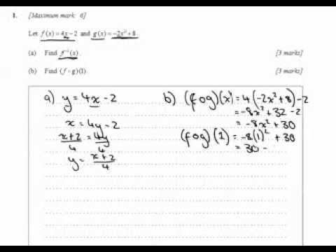 Question 1- May 2013 TZ2 Paper 1 (SL)