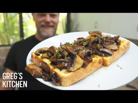 Soy Mushroom Cheese Toastie Recipe - Greg's Kitchen