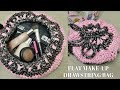 How to Crochet a Flat Drawstring Make-Up Bag