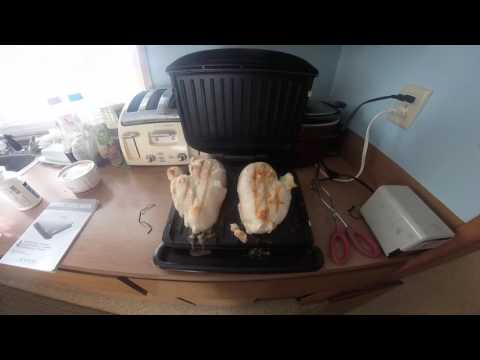 cooking chicken breast on a george foreman grill