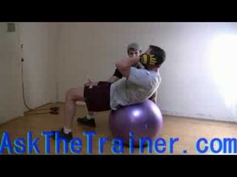 Gut Busters - Stability Ball crunches with Twist Abdominals