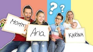 Who Knows Ronald Better! Mommy \u0026 Aria vs Karina vs Dad!!!