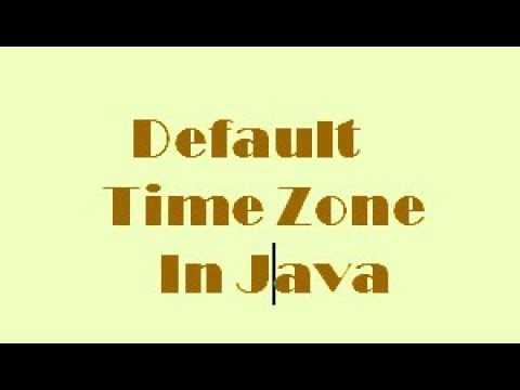 Default Time Zone in Java. most important question for java interview