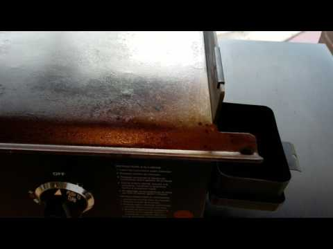 Blackstone griddle tip to stop grease from dripping down leg