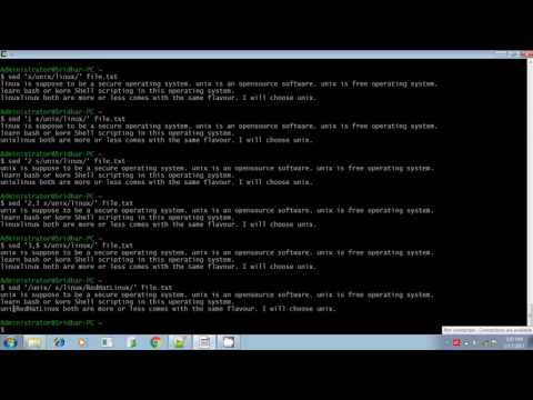 Unix shell scripting sed command Line and context addressing part 4