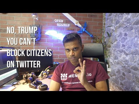 Donald Trump can't block citizens on Twitter