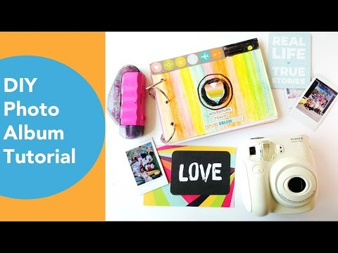 DIY Photo Album Tutorial | Simple Stories |  Using Watercolor Crayons Yo-i Tombow