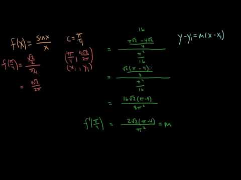 How to Find the Derivative of f(x) = (sinx)/x and evaluate f'(x) at c = pi/4
