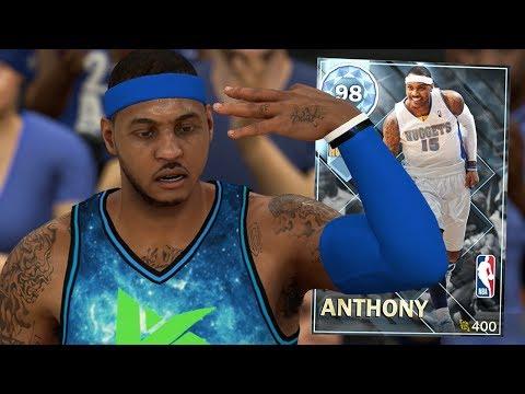 DIAMOND CARMELO ANTHONY GAMEPLAY!! CRAZY 4 POINT PLAY!! (NBA 2K18 MYTEAM)