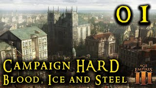 Age of Empires III Definitive BLOOD ICE AND STEEL - HARD Ep. 01    FULL GAME RTS Campaign Remastered