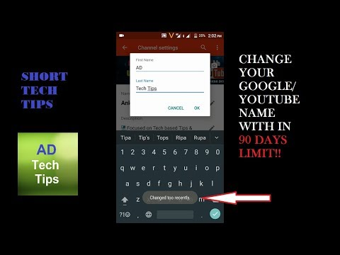 How to change Your Google or YouTube Name within 90 Days Limit