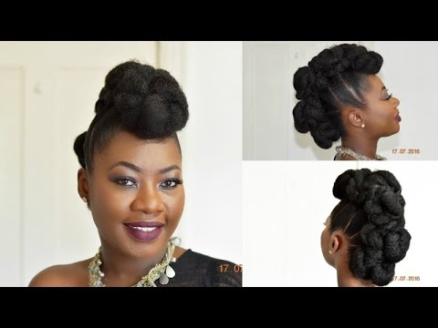 How to Create a Simple Natural Looking BunHawk on Short Hair