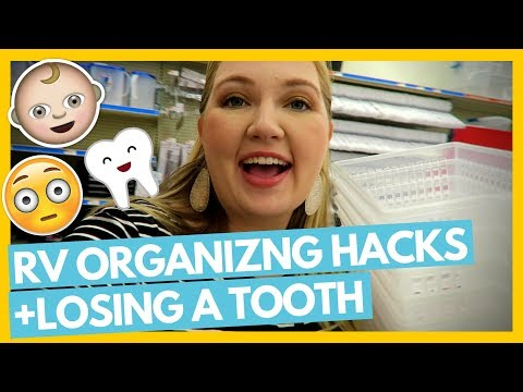 Hunt for Baskets, RV Organizing Hacks & Losing a Tooth 😬 Full Time RV Family