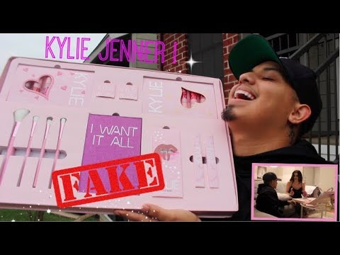 I Bought My Girlfriend FAKE KYLIE COSMETICS BIRTHDAY COLLECTION For Our ANNIVERSARY PRANK !!