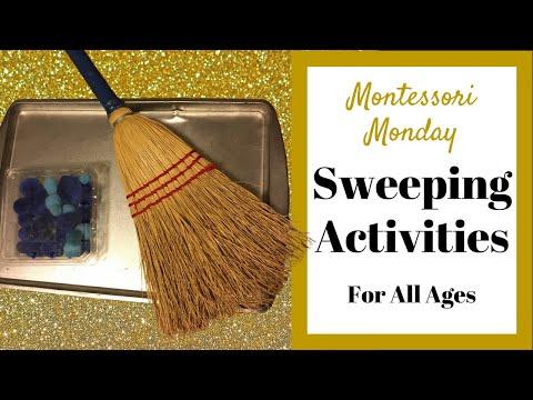 Montessori Sweeping Activities Gross Motor Skills for Toddlers and Preschoolers MONTESSORI MONDAY