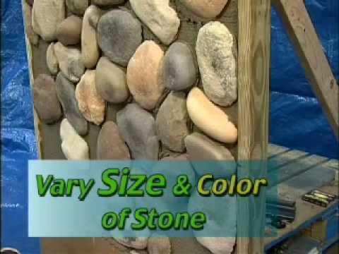 Trilite Stone River Stone Installation