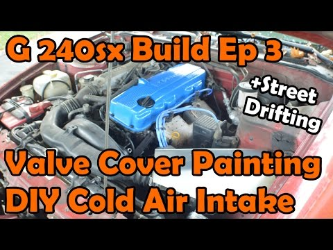 Granny 240sx Build, Ep 3: Painting Camshaft Cover, DIY Cold Air Intake