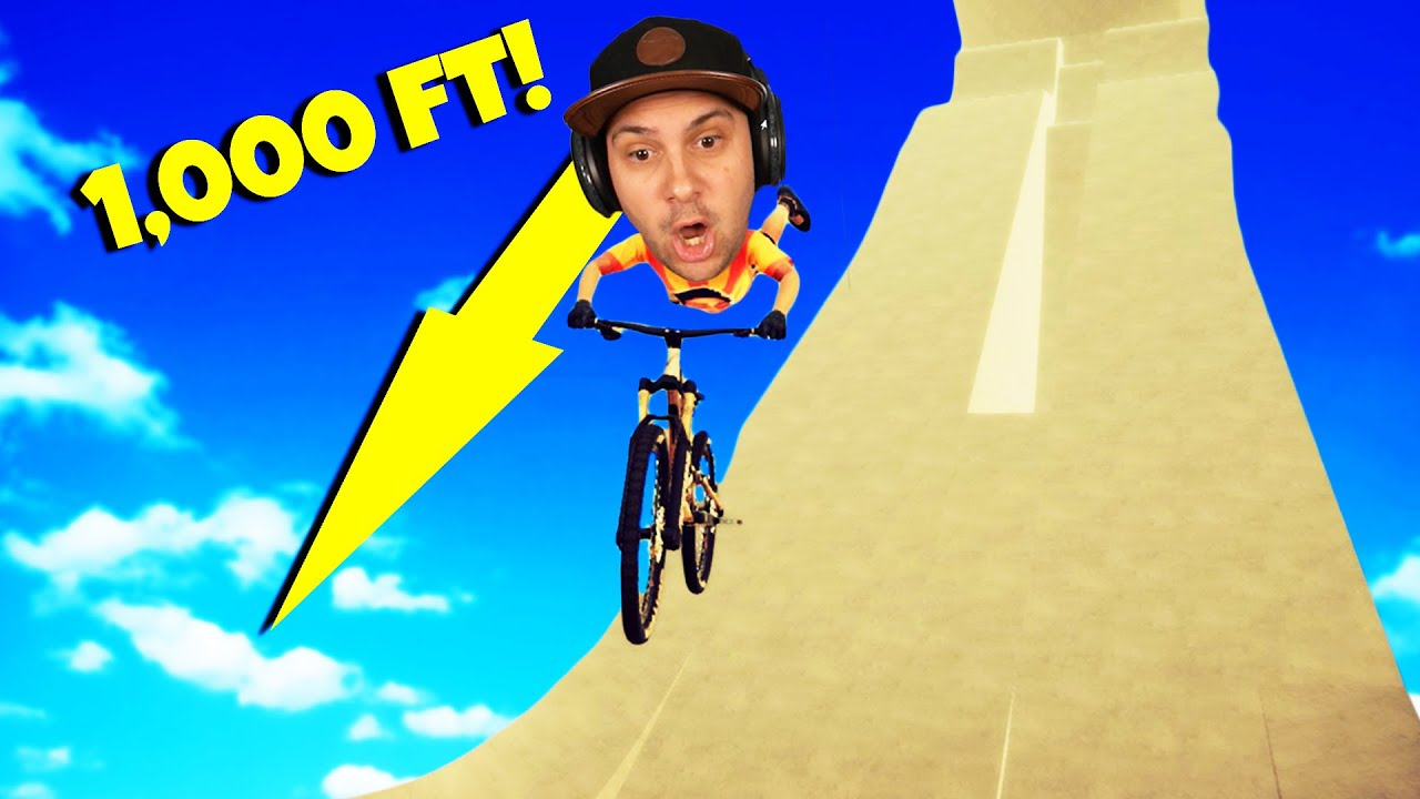 Jumping From The WORLD'S BIGGEST RAMP! | Decenders